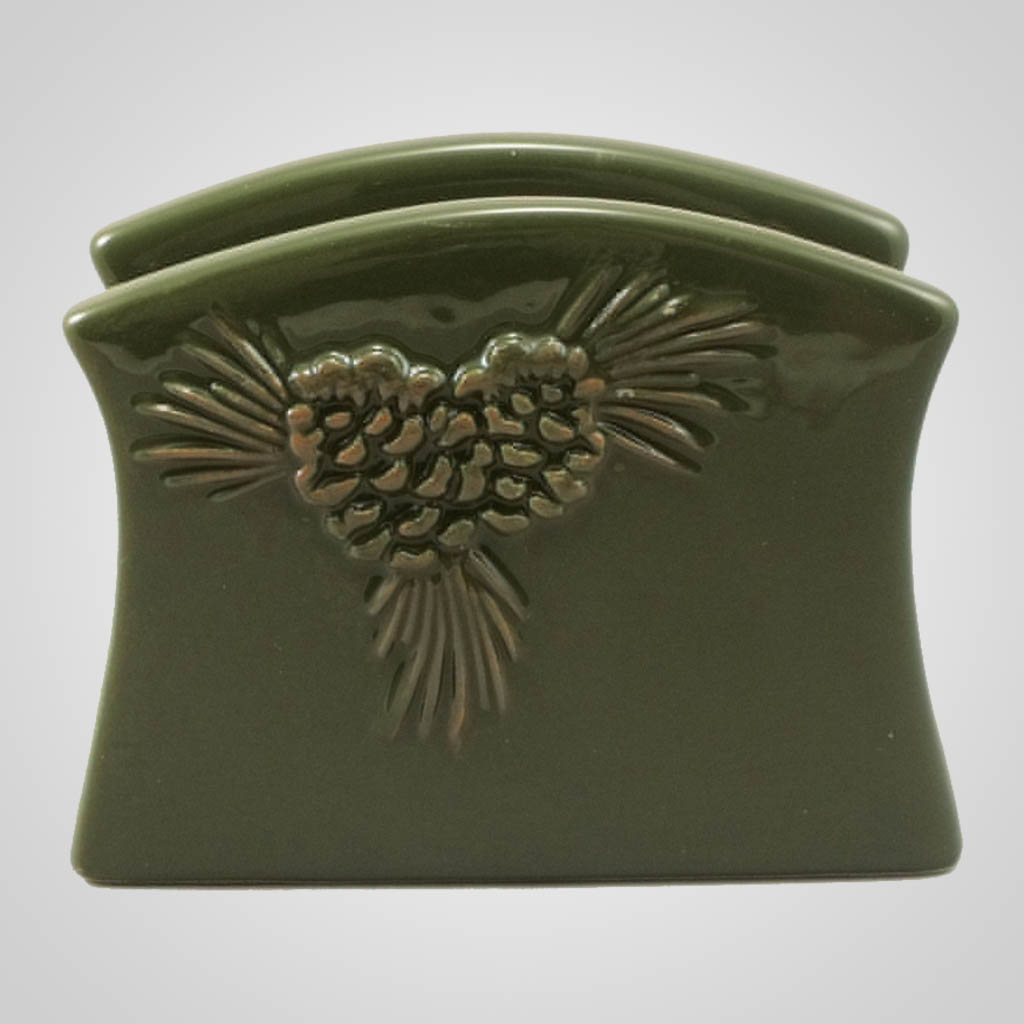 19158 - Ceramic Pine Napkin Holder