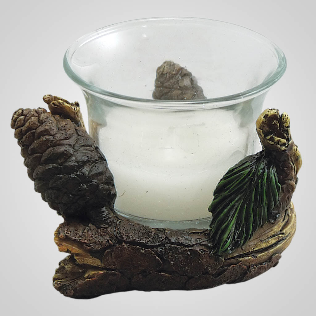 19163 - Pine Votive Holder