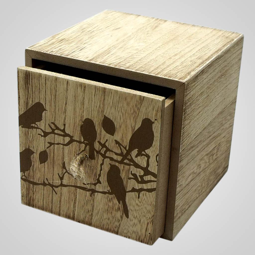 19168 - Bird Design Wood Box