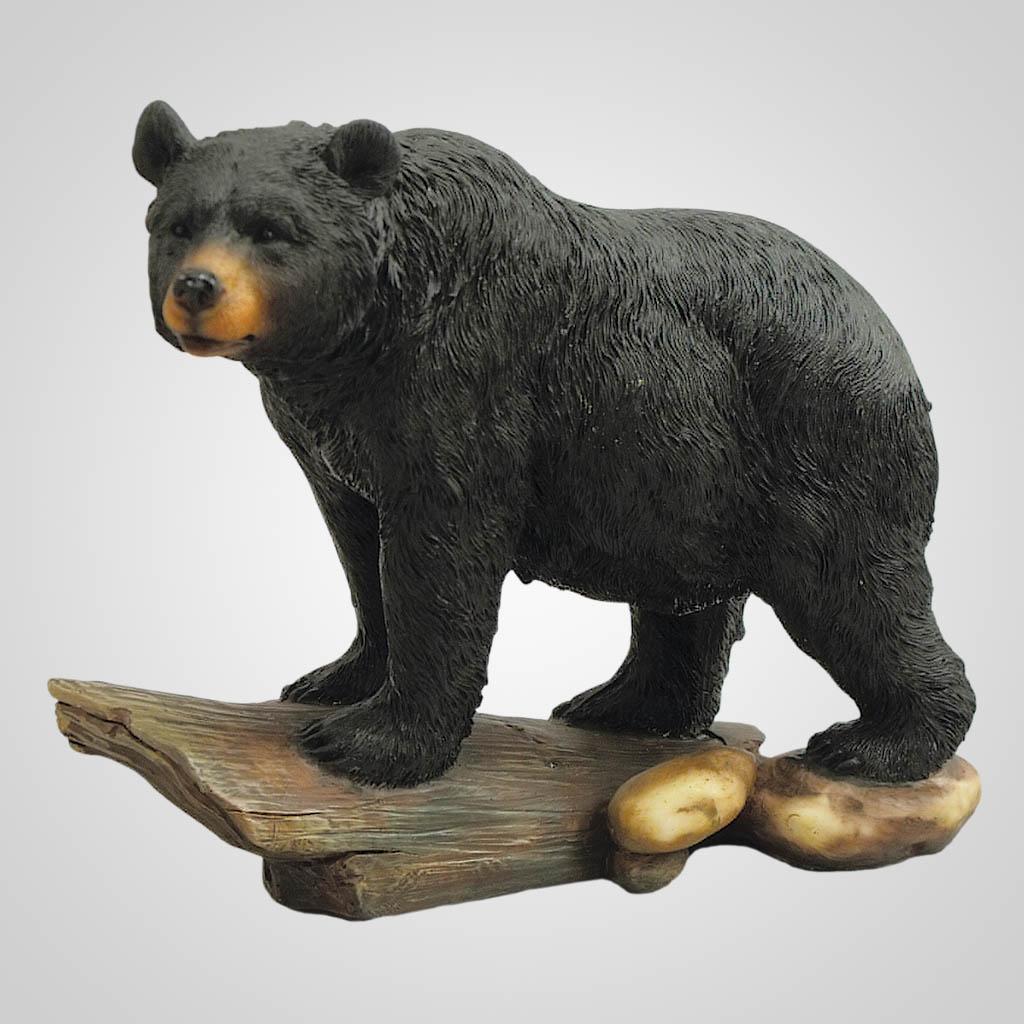 19171 - Bear On Log Figurine