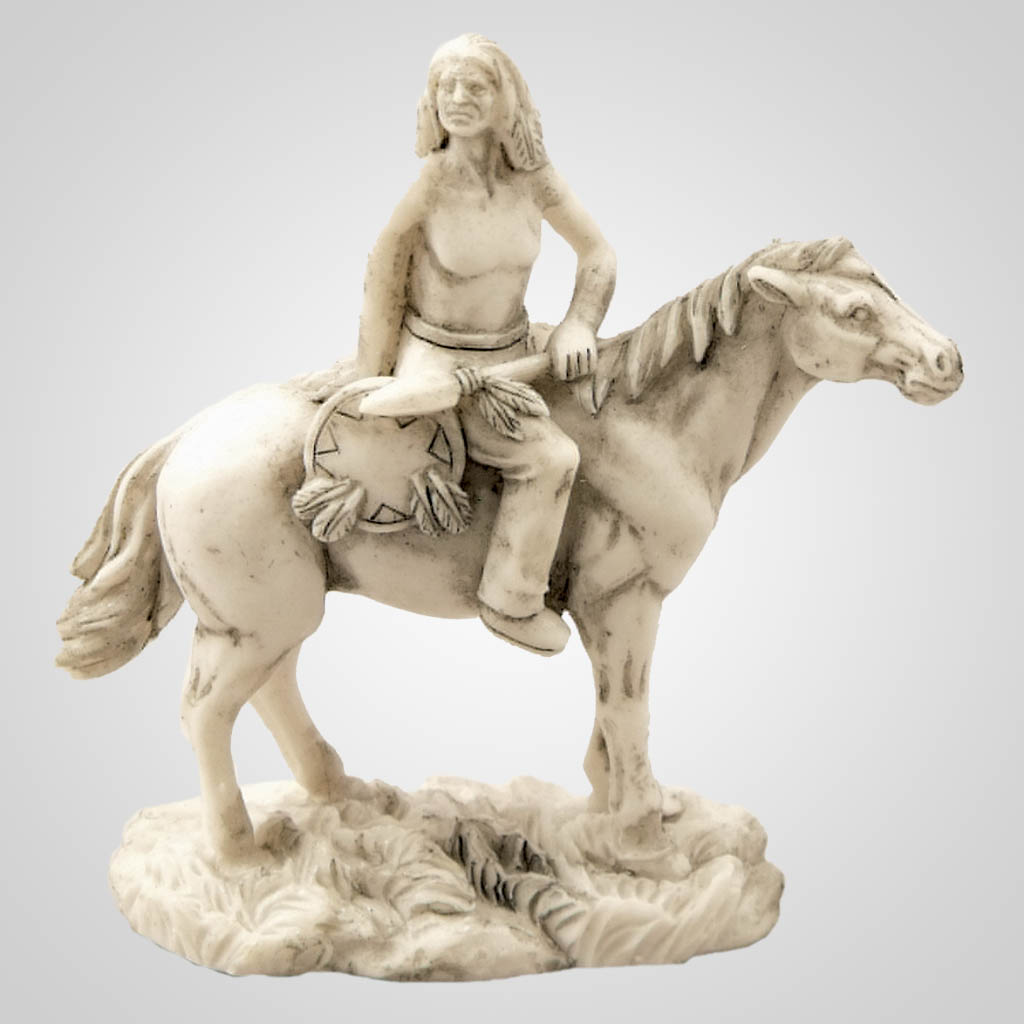 19175 - Warrior On Horseback Figurine