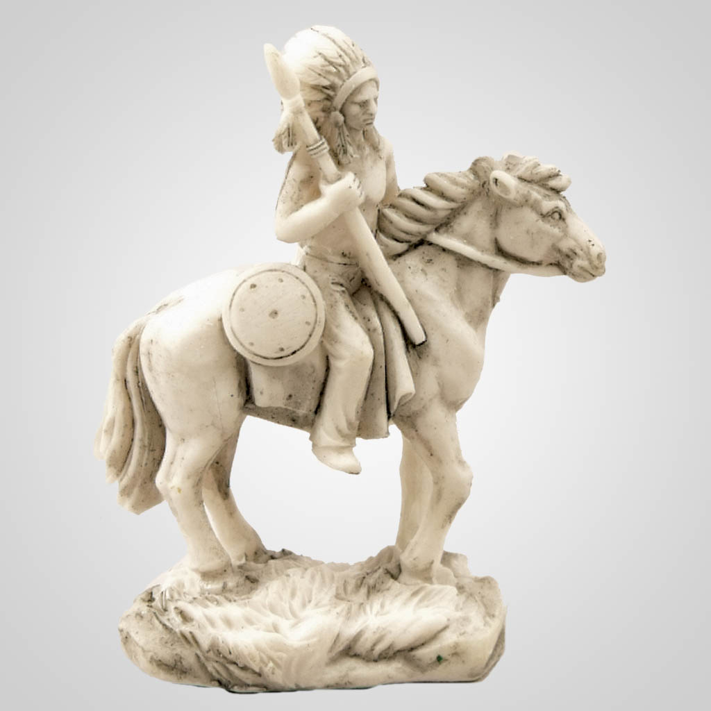19176 - Chief On Horseback Figurine
