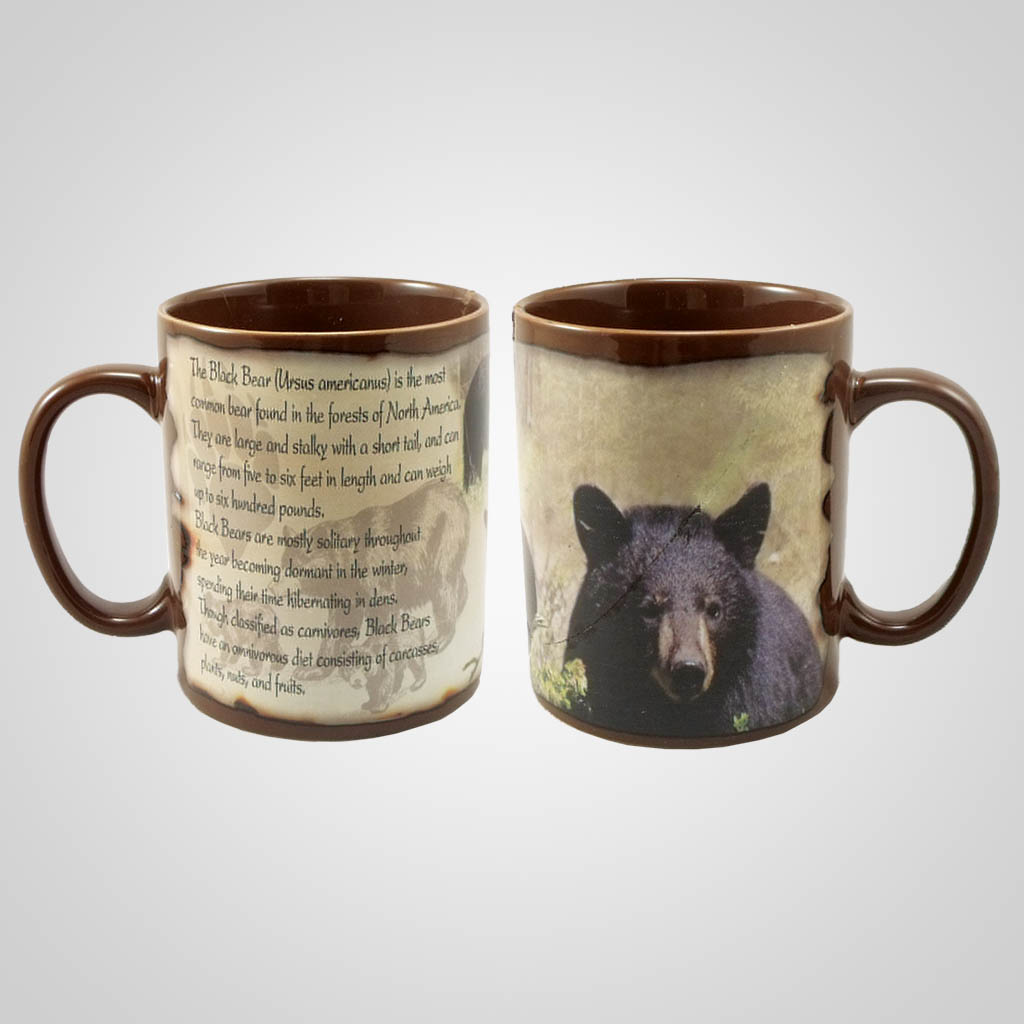 19205 - Black Bear Full-Wrap Mug, Plain
