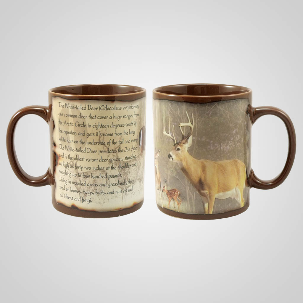19206 - Whitetail Deer Full-Wrap Mug, Plain