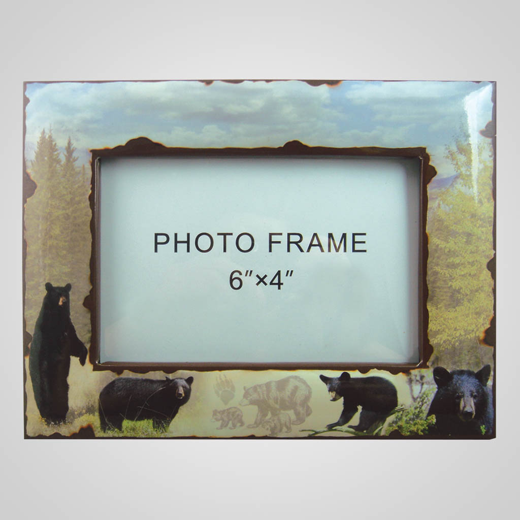 19211 - Black Bear Photo Frame, Plain