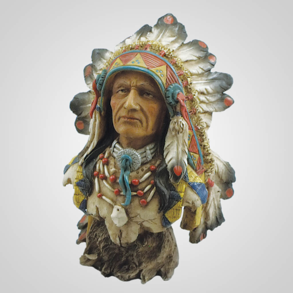 19311 - Native American Chief Bust