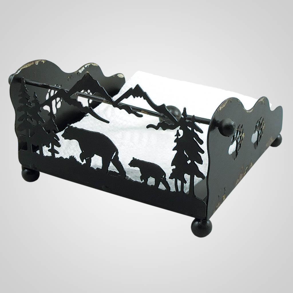19317 - Metal Bear Napkin Holder