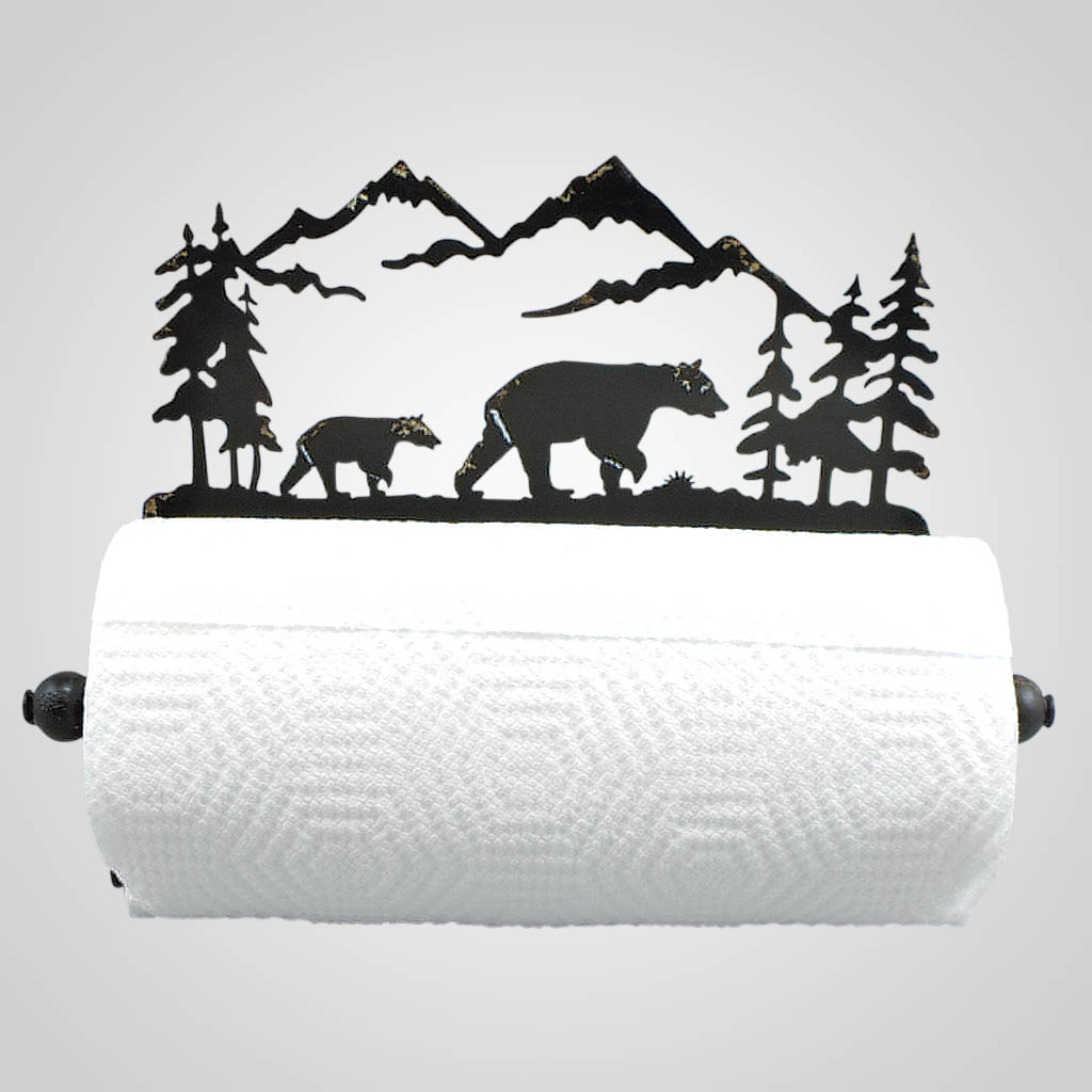 19318 - Metal Bear Paper Towel Holder