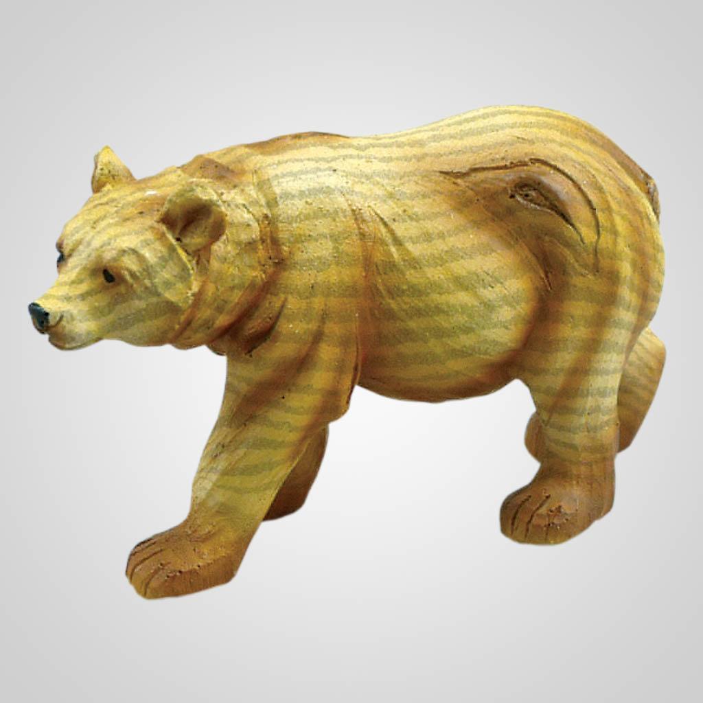 19322 - Woodgrain Look Bear Figurine