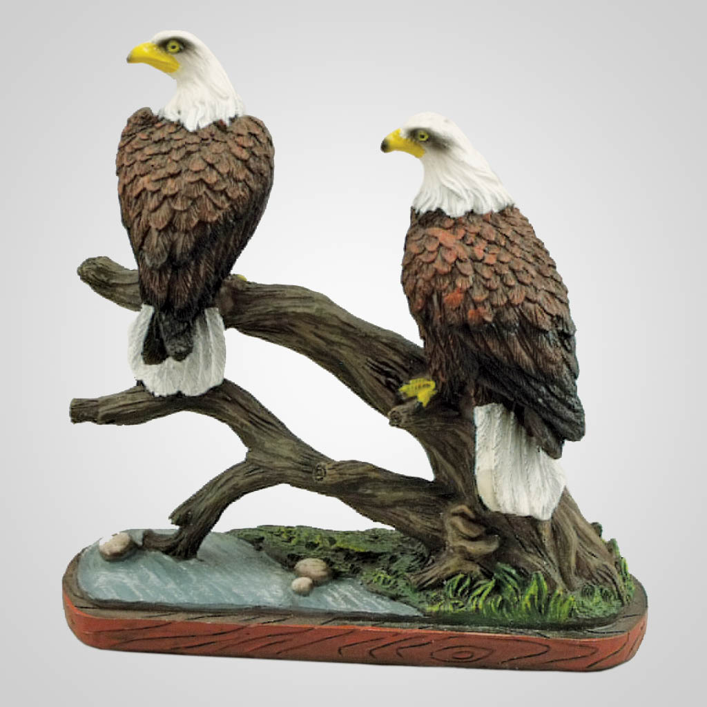 19326 - Eagle Pair Perched On Branch