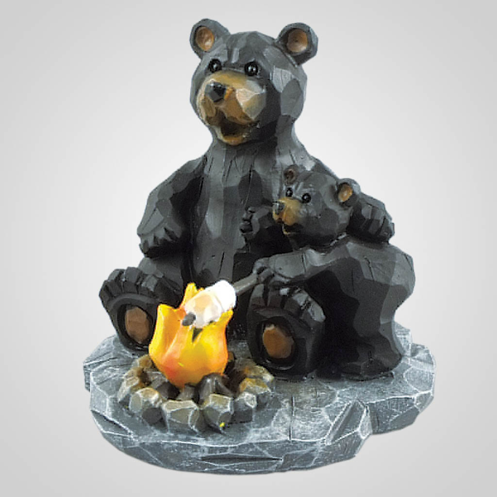 19345 - Marshmallow Roast Bears Figurine