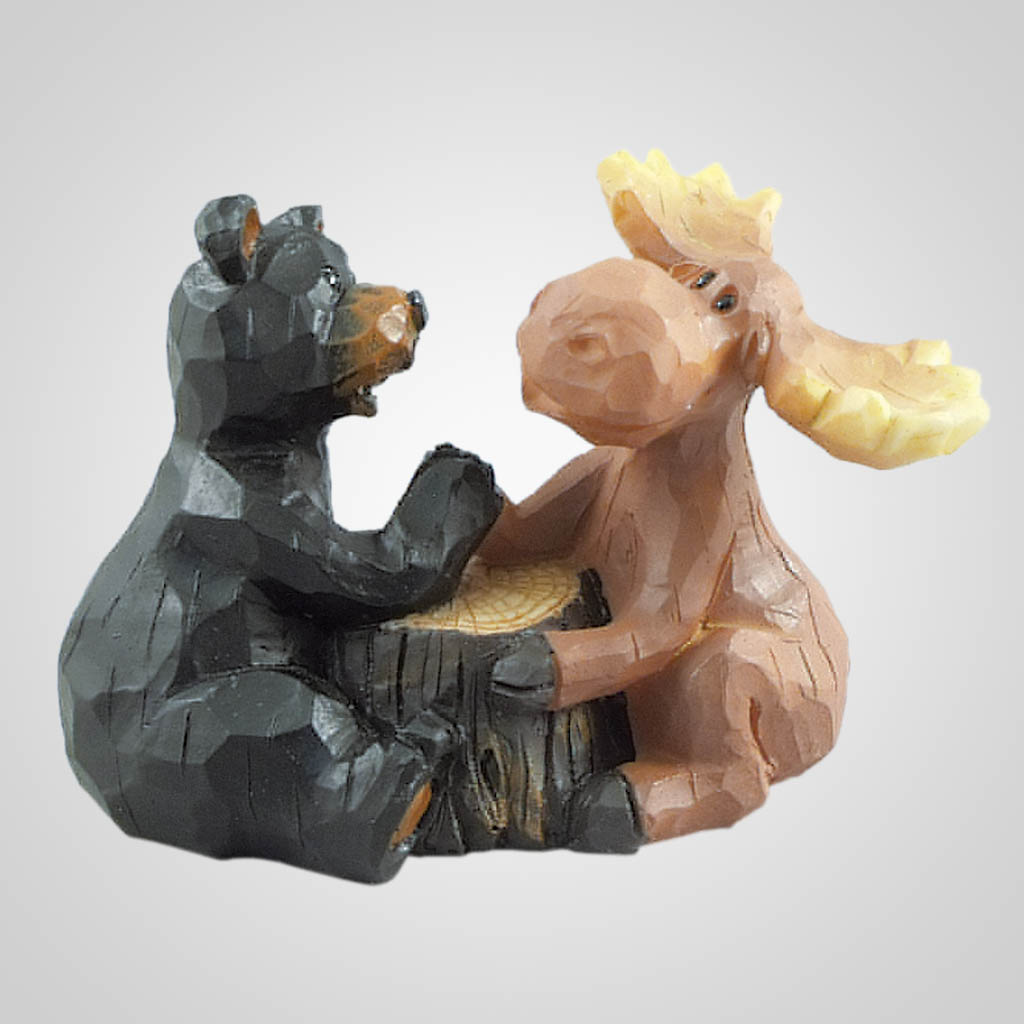 19346 - Arm Wrestling Bear & Moose