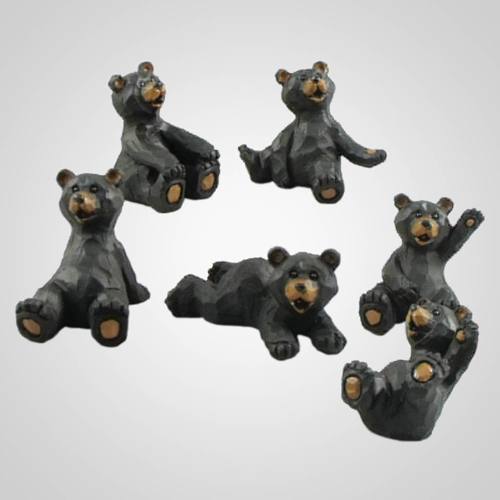 19351 - Carved-Look Bear World Figurines