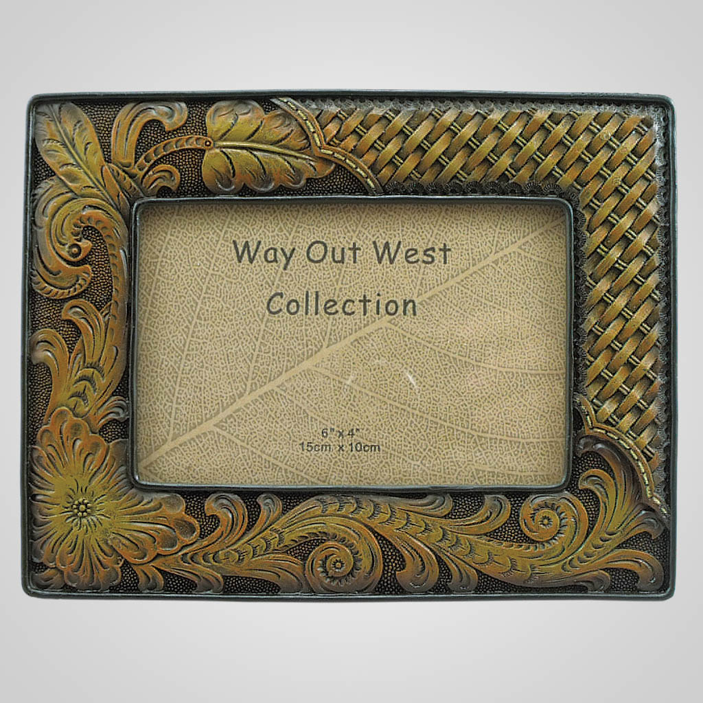 19366 - Tooled Leather Look Photo Frame