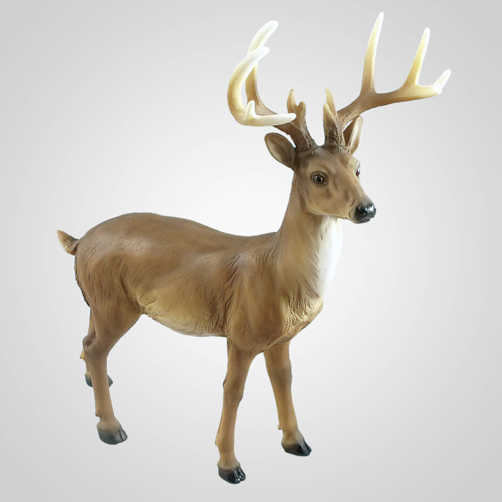 19419 - Large Buck Deer Figurine