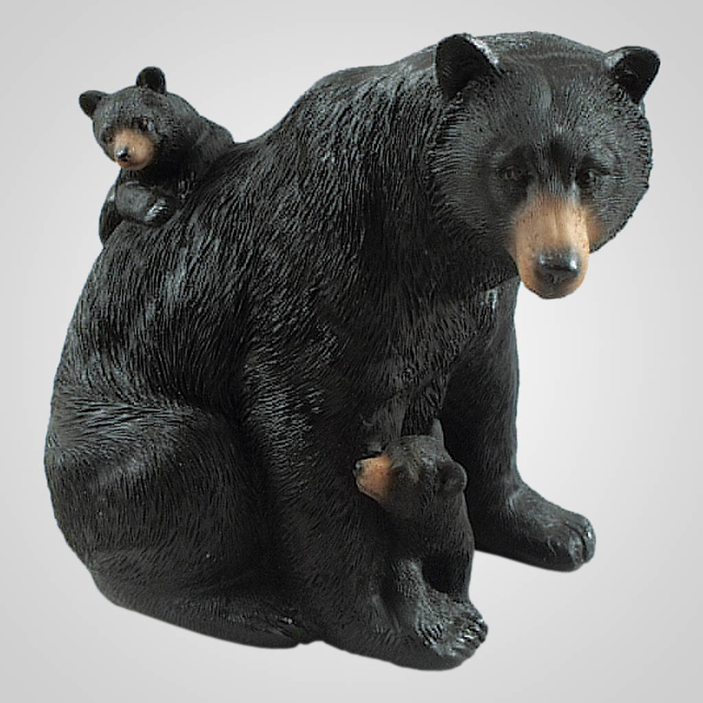 19421 - Bear With Cubs Figurine