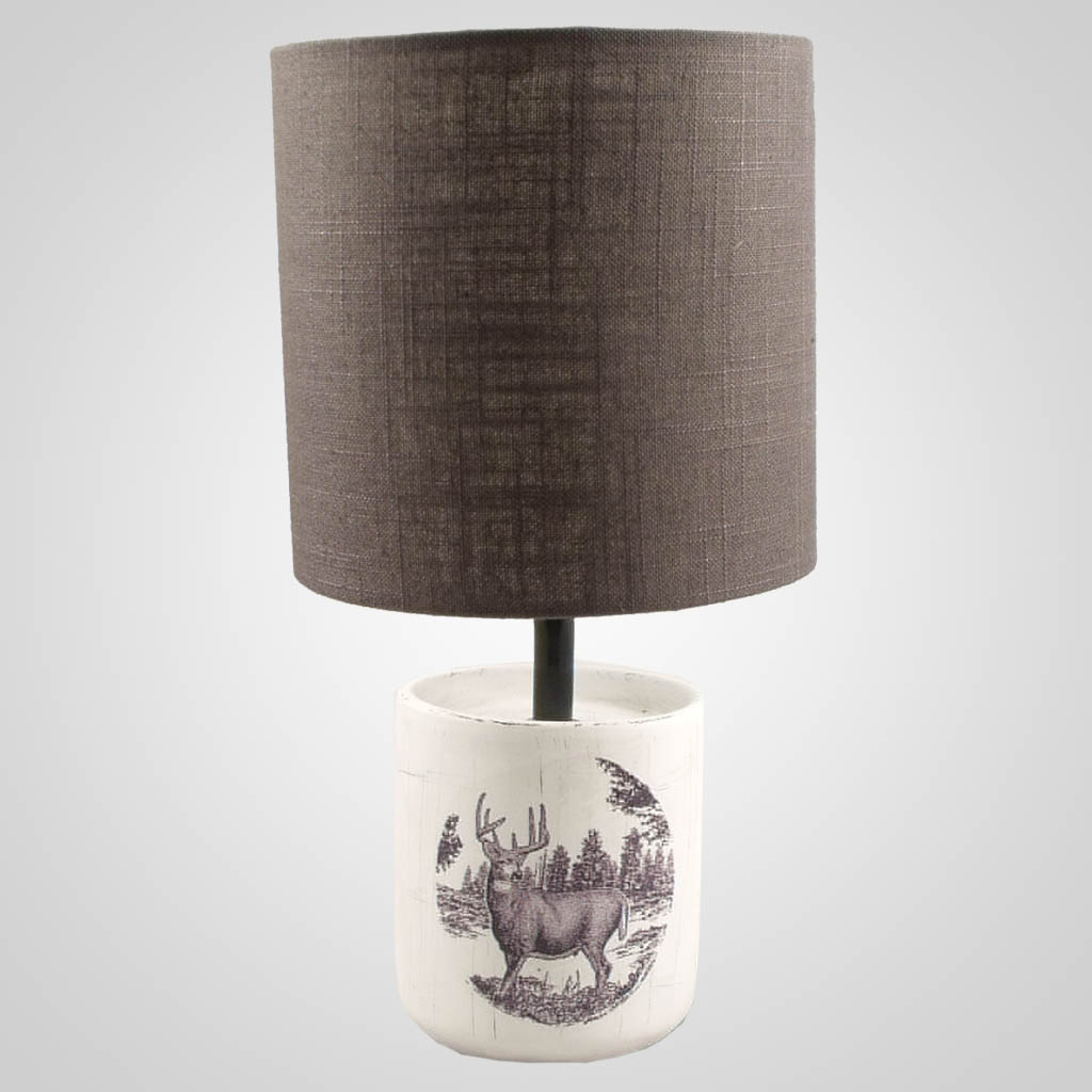 19433 - Deer Small Cylinder Lamp
