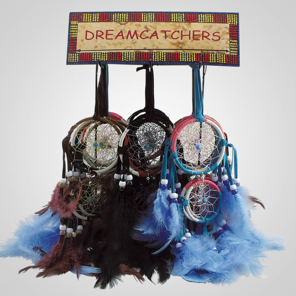 19438 - Colorful Double Dreamcatchers With Display