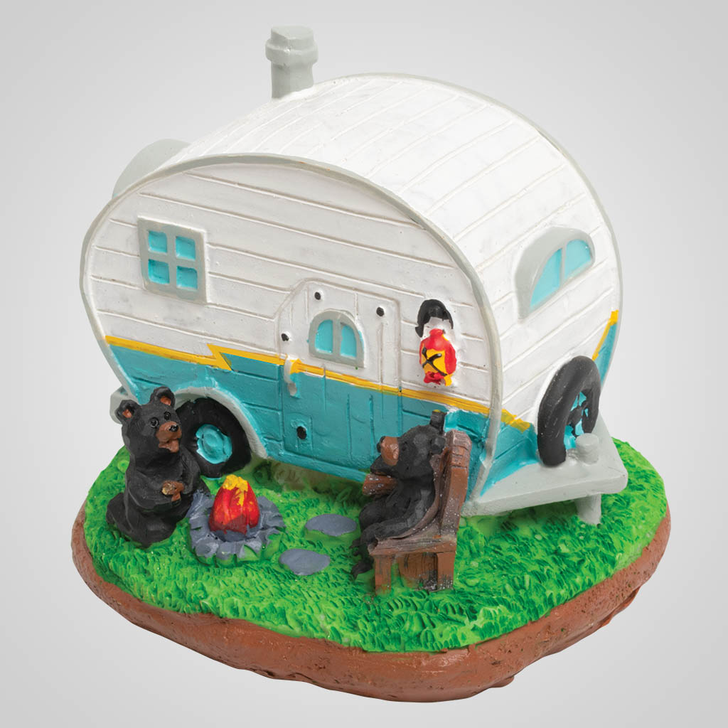 19452 - Retro Camping Trailer Bears