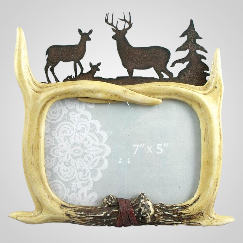 19463 - Antlers & Deer Photo Frame