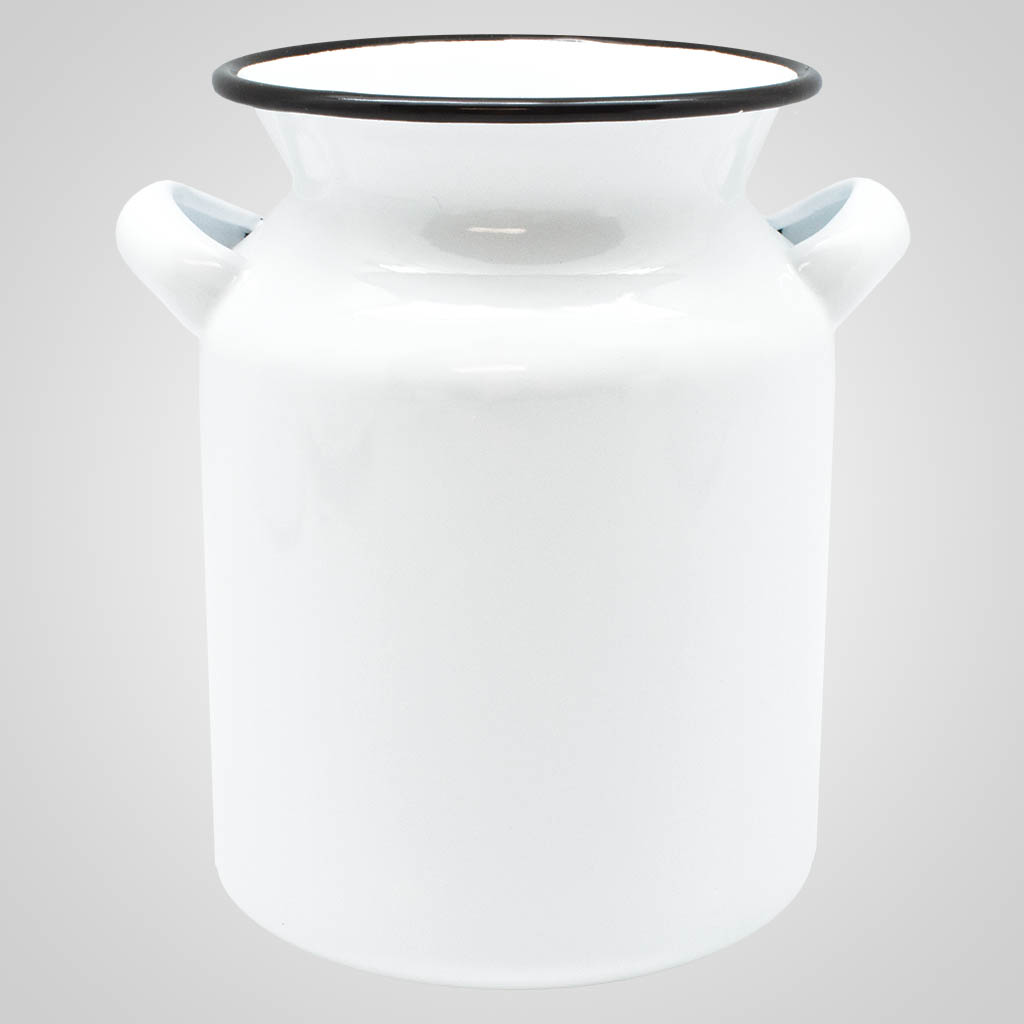 19565PL - Enamelware Milk Can