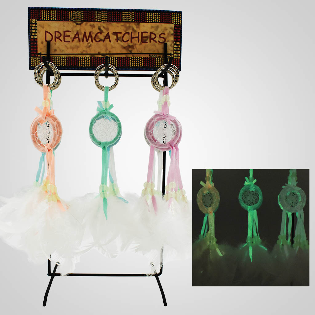 19569 - Glow-In-The-Dark Dreamcatcher Keychains