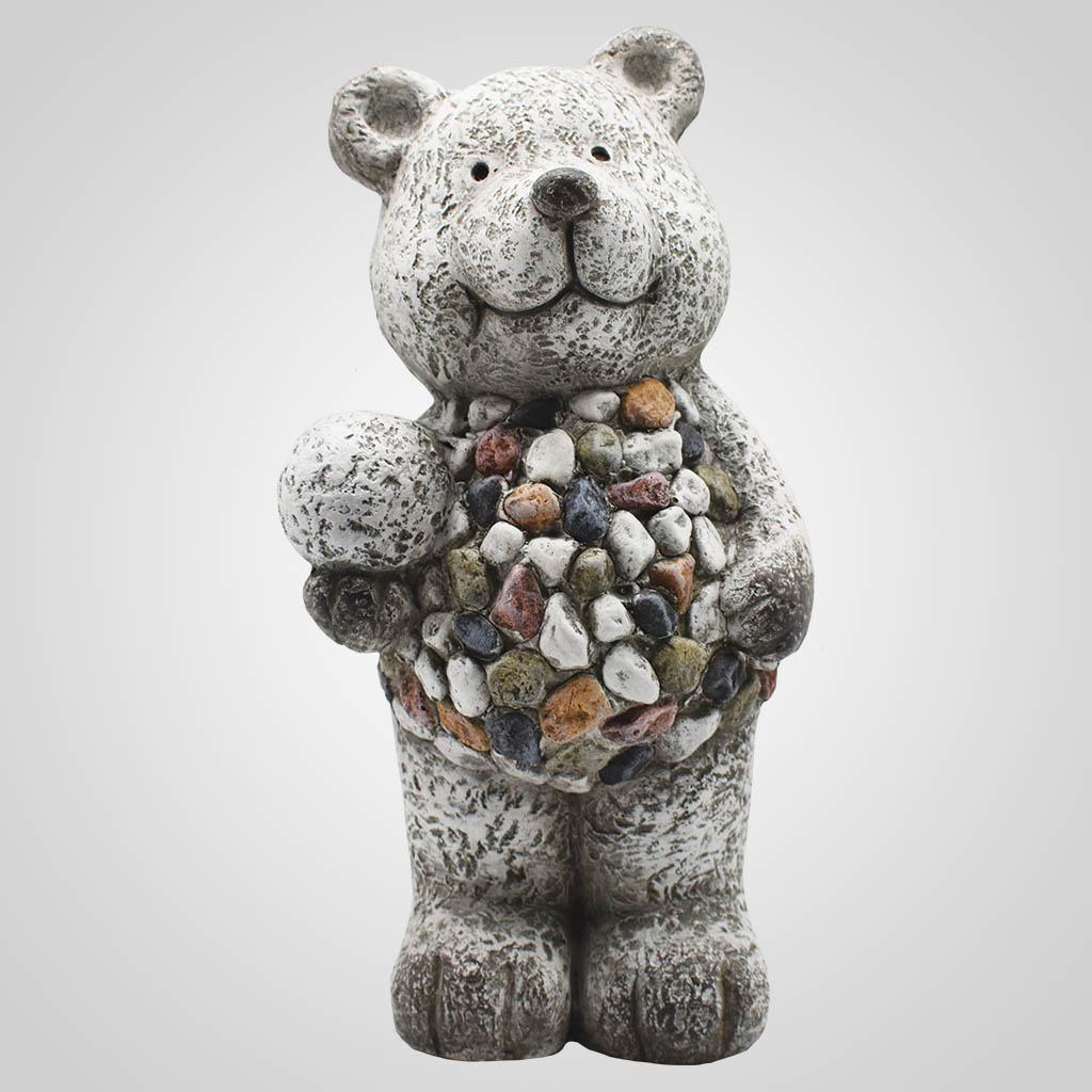 19570 - Large Pebble-Stone Garden Bear