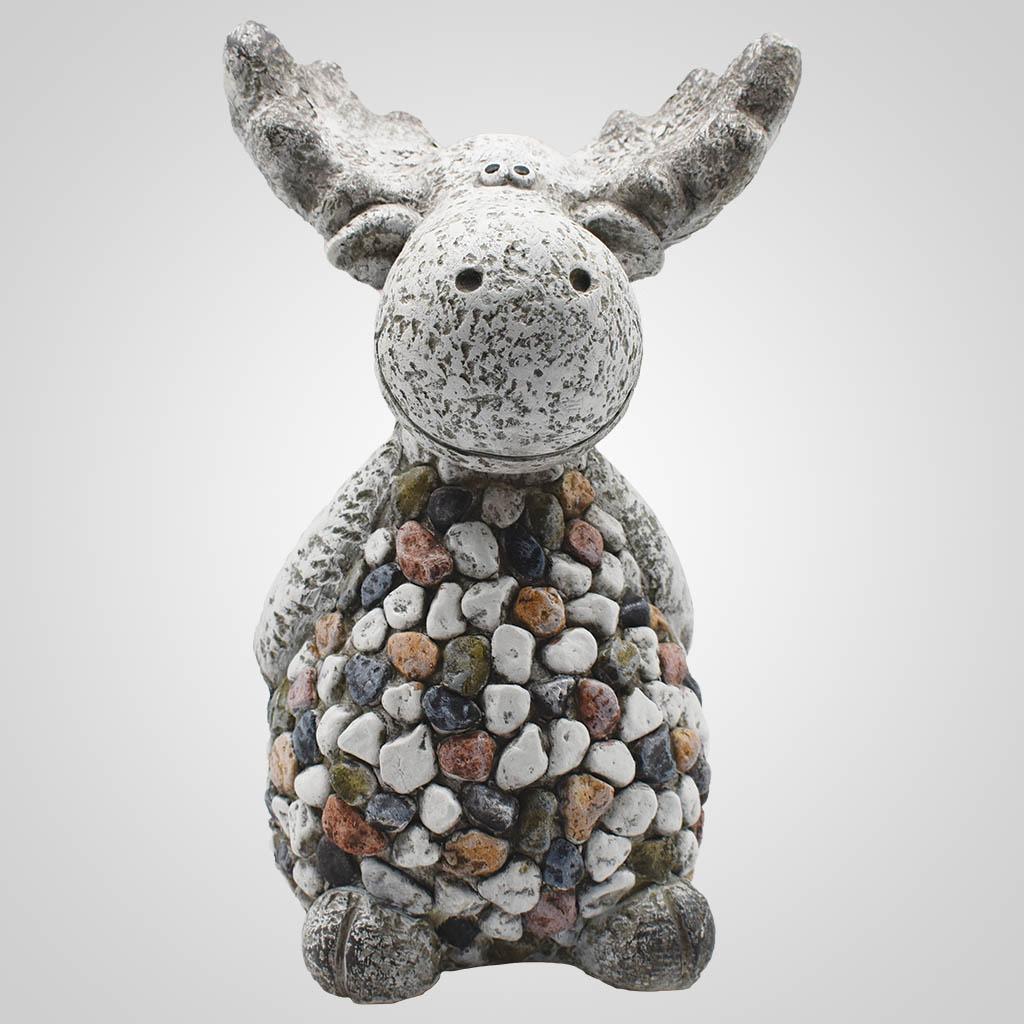 19571 - Large Pebble-Stone Garden Moose