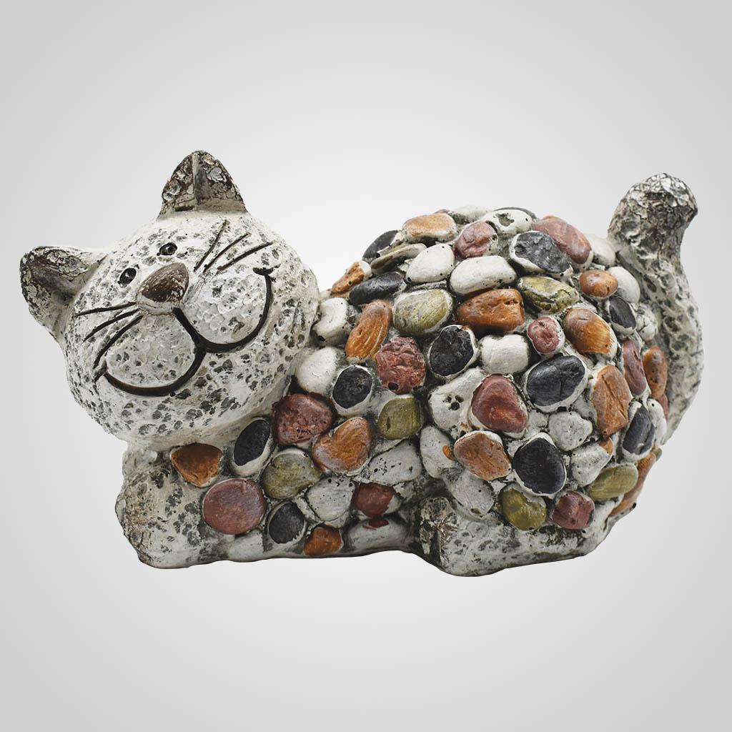 19573 - Pebble-Stone Garden Cat
