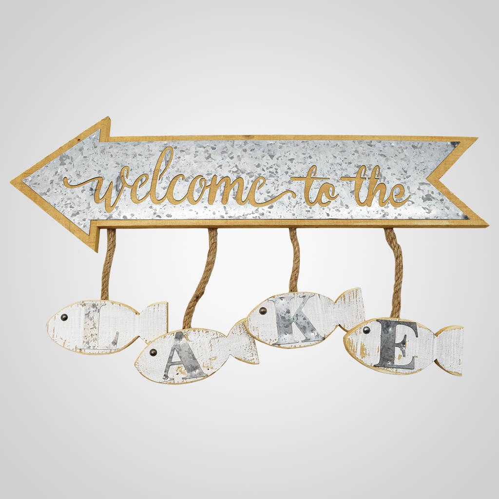 19578 - Welcome to the Lake Sign