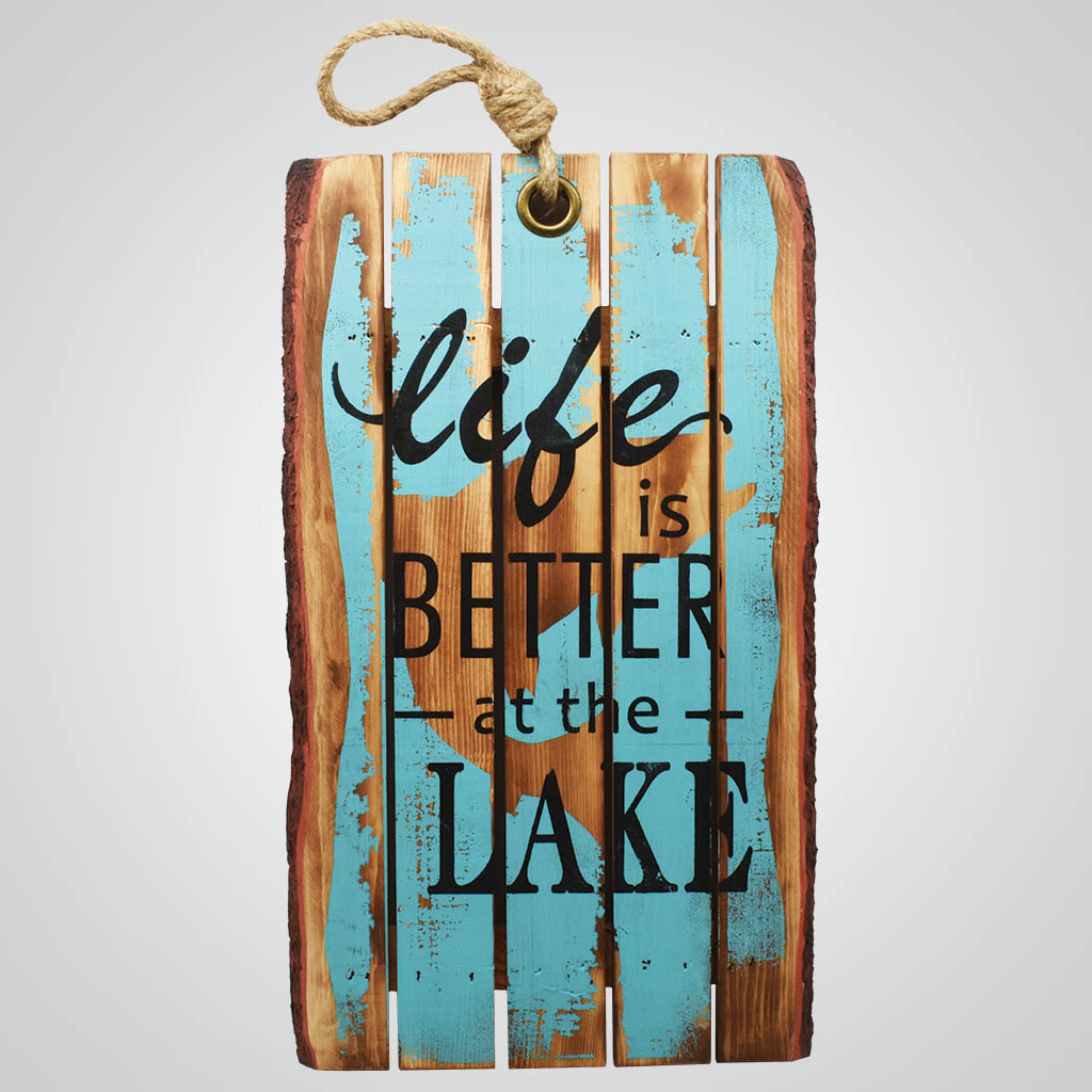 19581 - Lake Life Planked Wood Sign