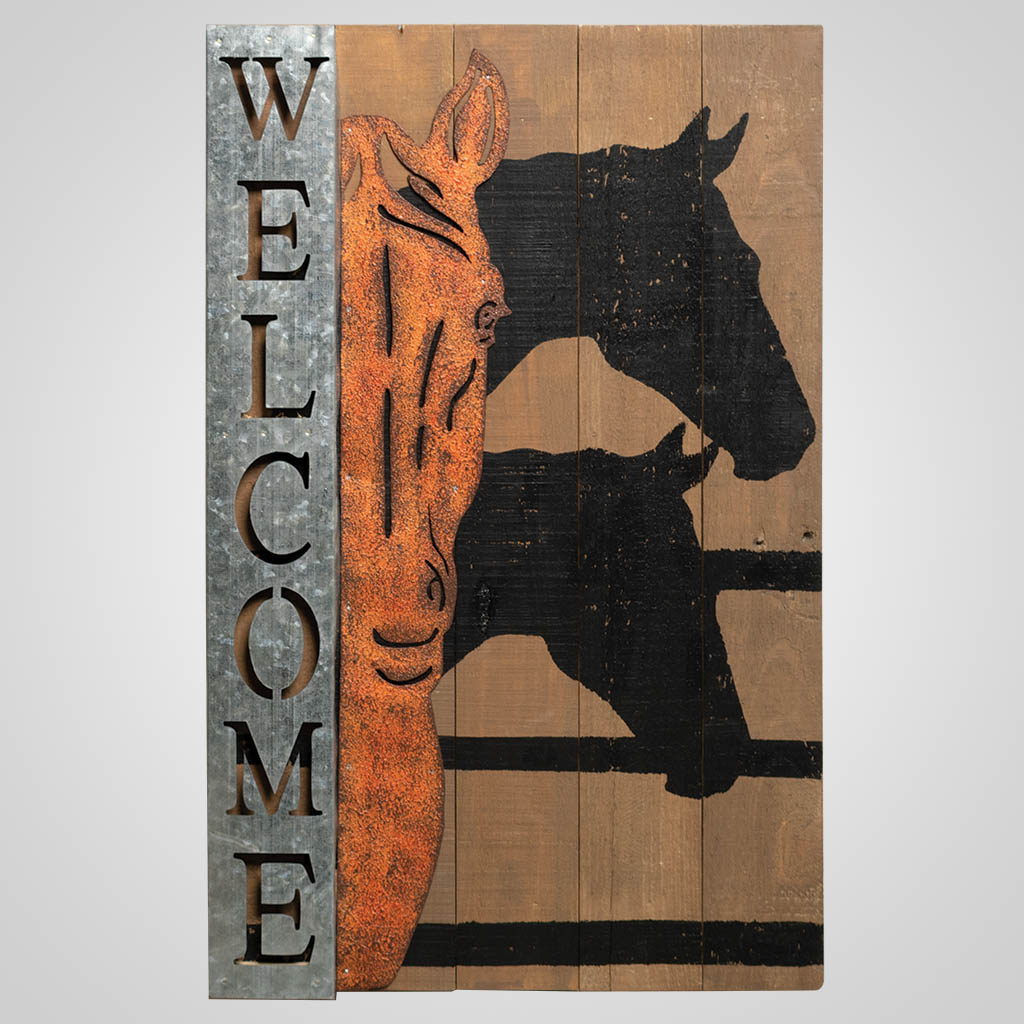 19582 - Horse Welcome Sign