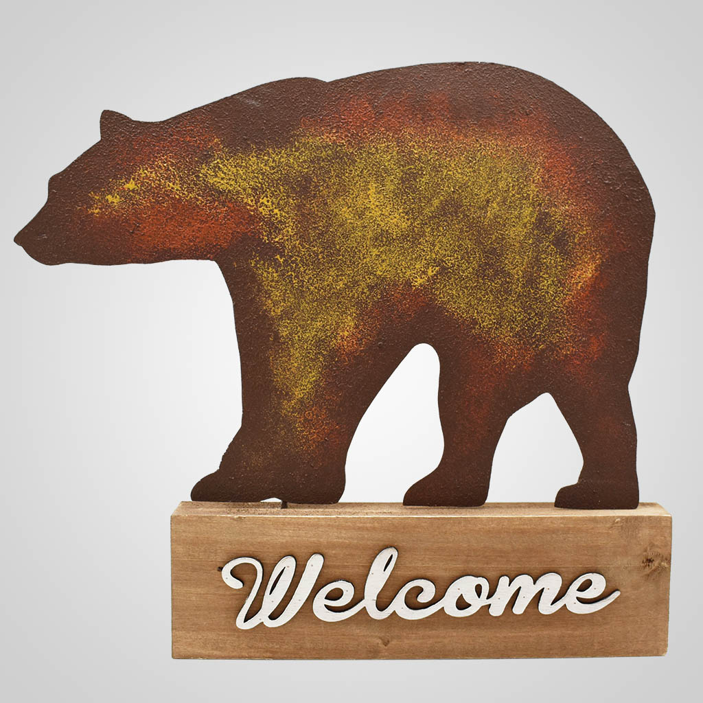 19583 - Bear Welcome Tabletop Sign