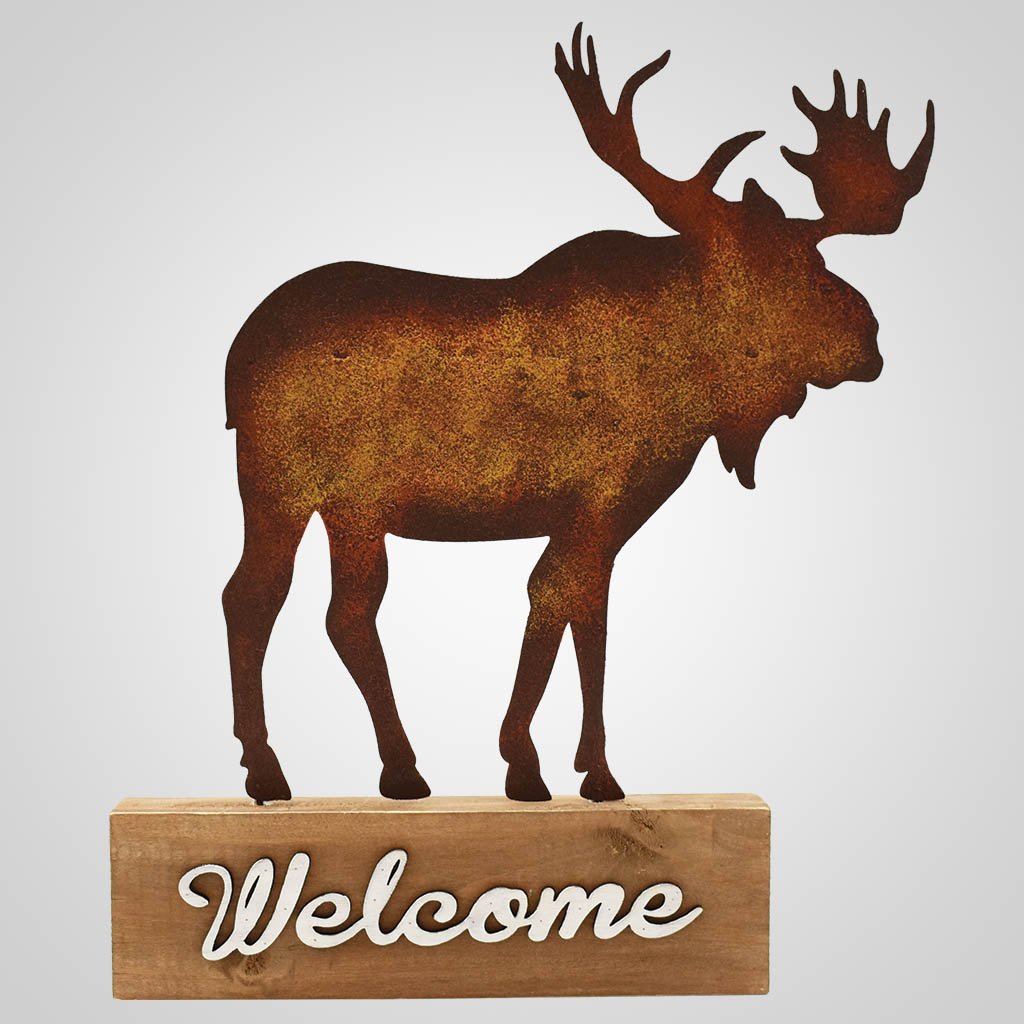19584 - Moose Welcome Tabletop Sign