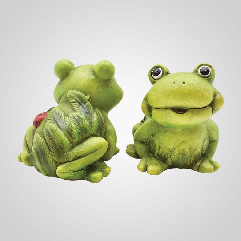 19596 - Ceramic Comic Frogs