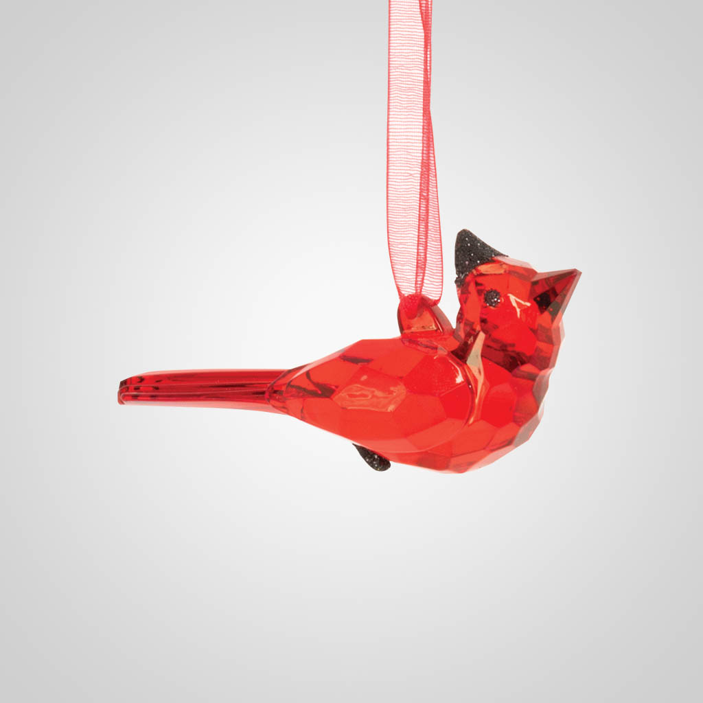 19602 - Small Cardinal Acrylic Ornament