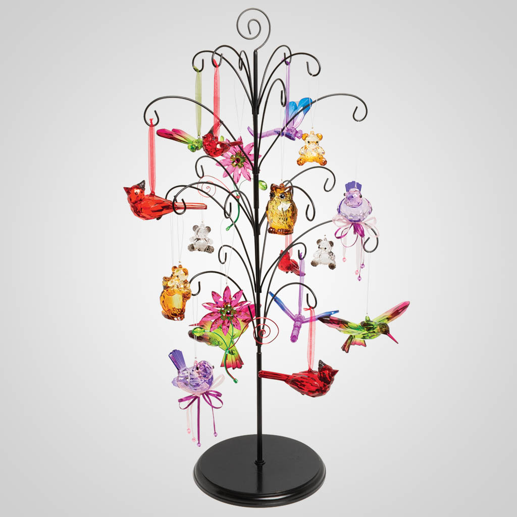 19602UNTR - Acrylic Ornaments with Tree Display