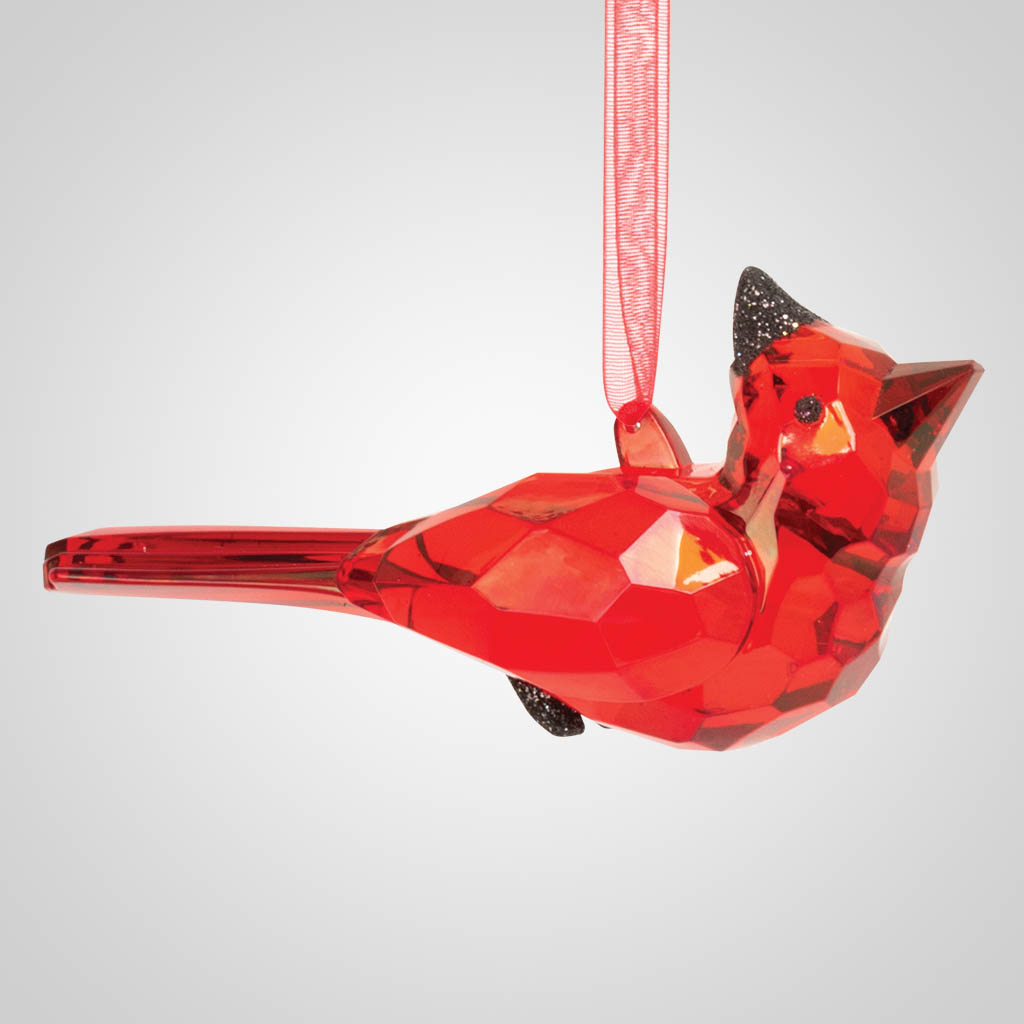 19603 - Large Cardinal Acrylic Ornament