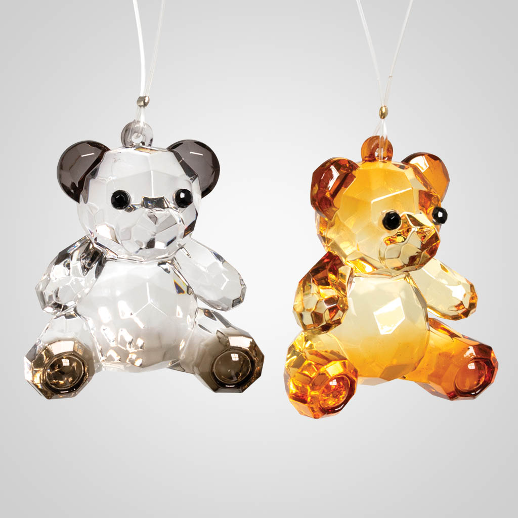 19607 - Bear Crystal Ornaments