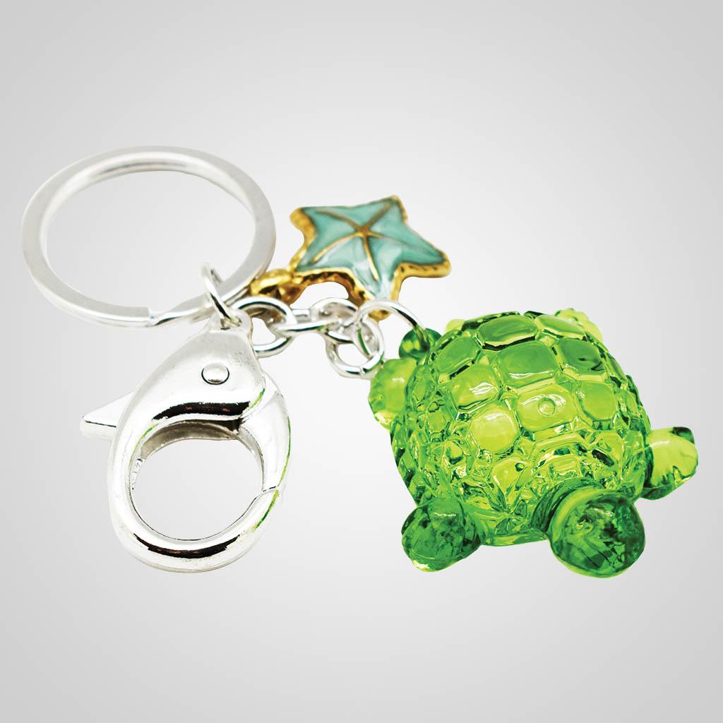 19610 - Turtle Crystal Keychain