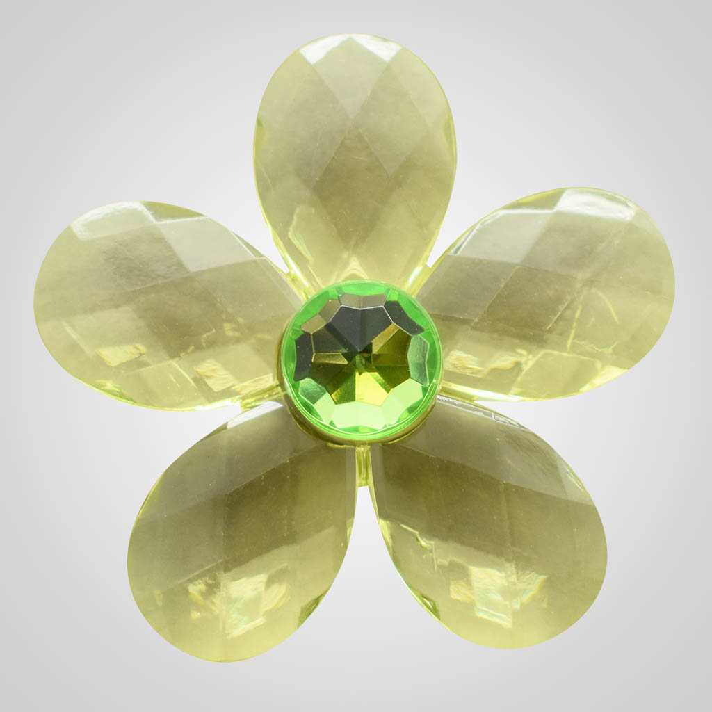 19616 - Green Daisy Crystal Magnet