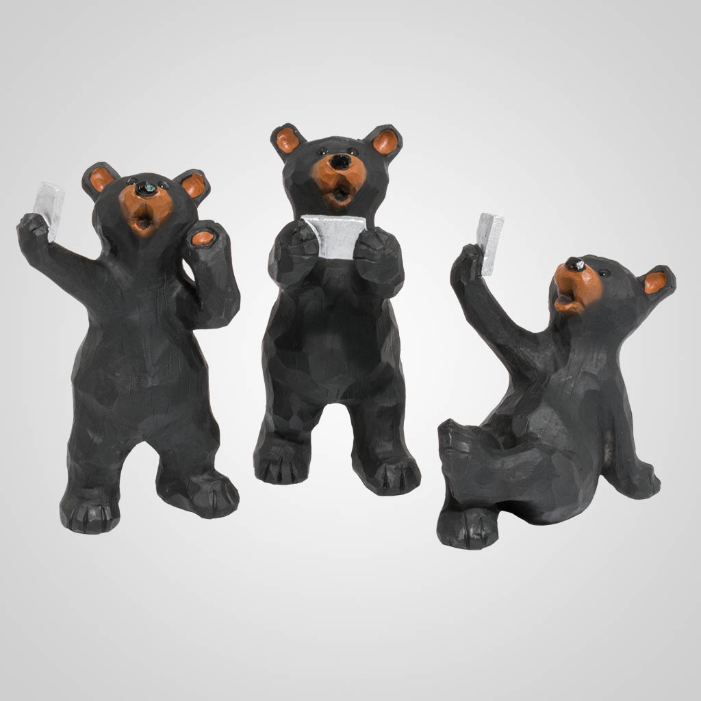 19629 - Bear Selfie Figurines