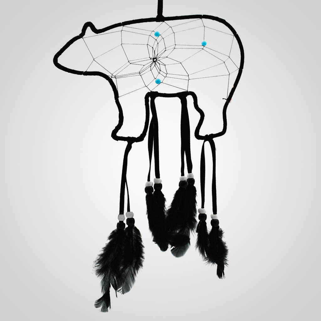 19633 - Bear-Shaped Dreamcatcher