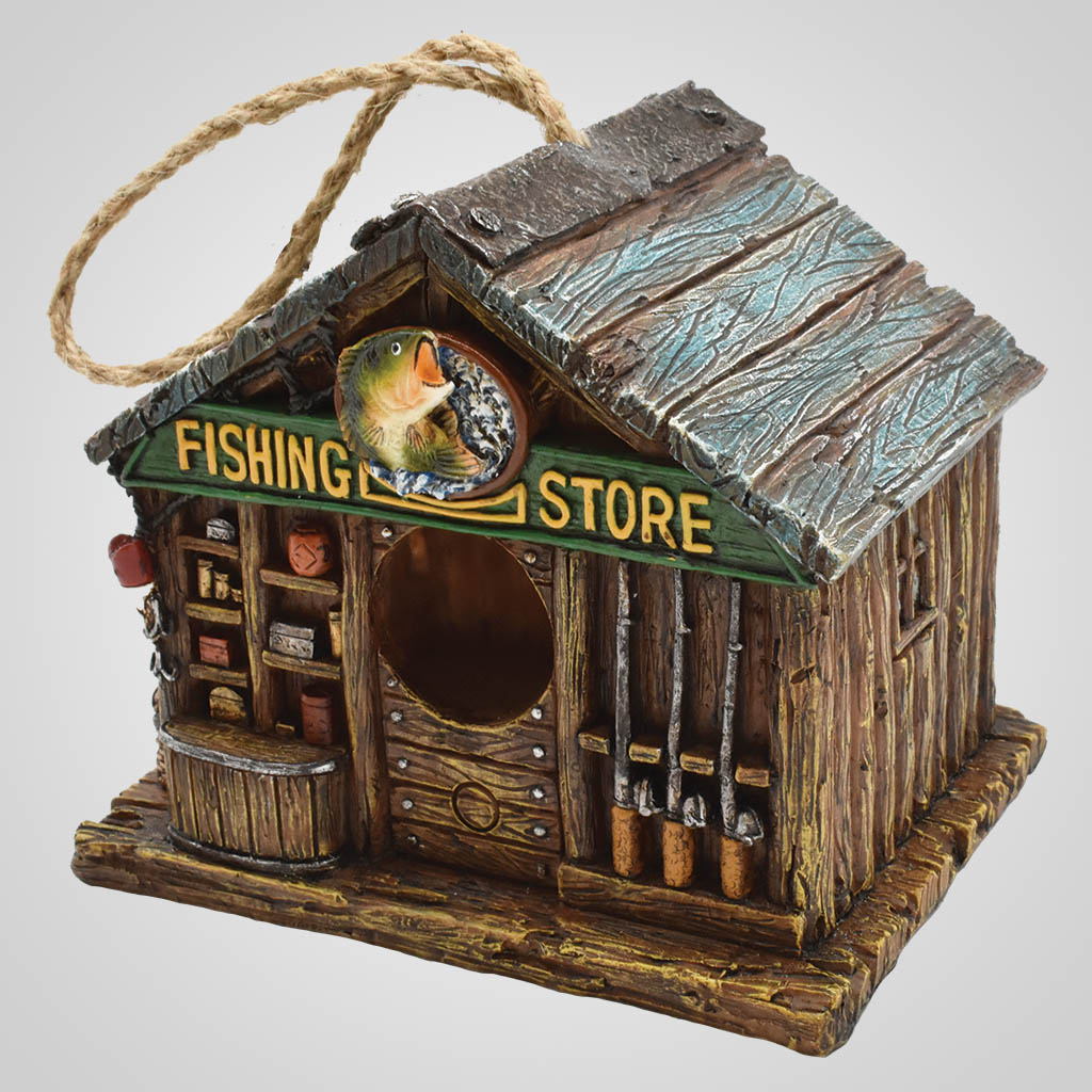 19643 - Fishing Store Bird House