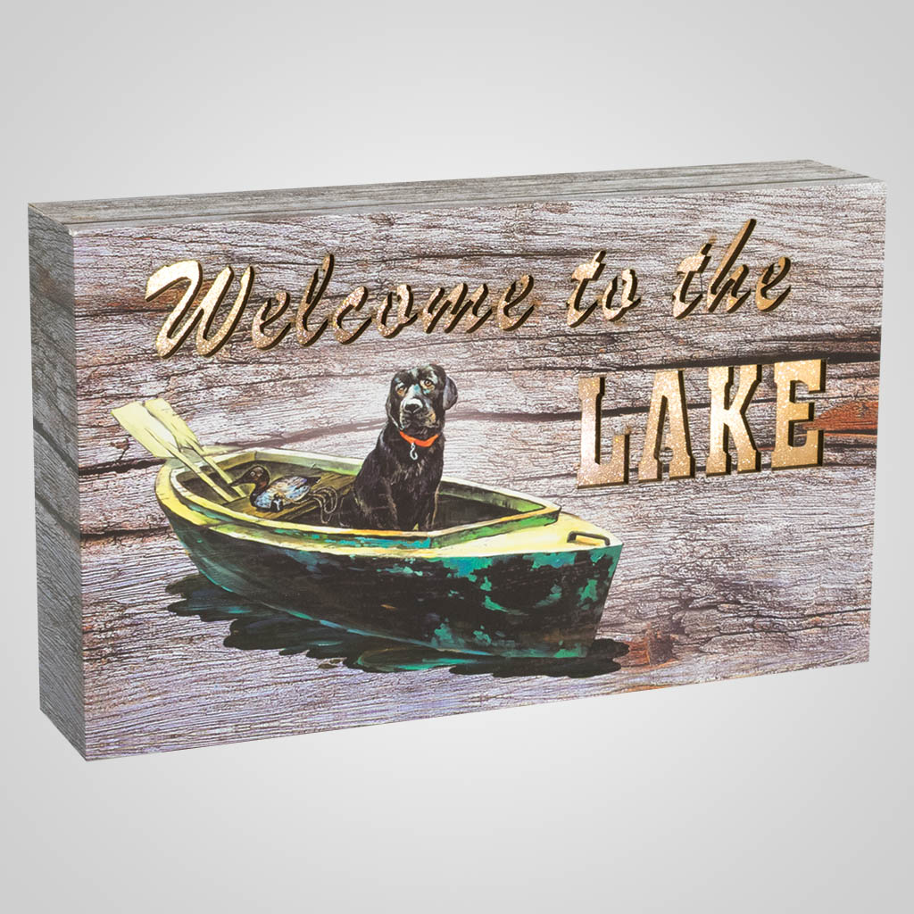 19662 - Welcome To The Lake Light-Up Plaque