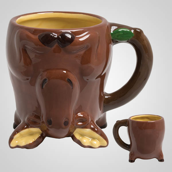 19697PL - Upside-Down Moose Mug, Plain