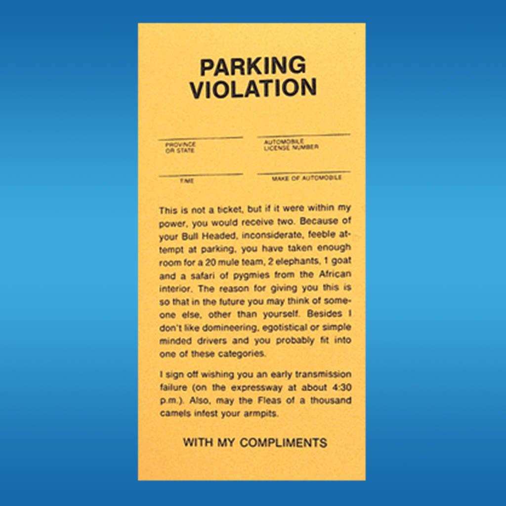 3-LF0061 - Joke Parking Ticket