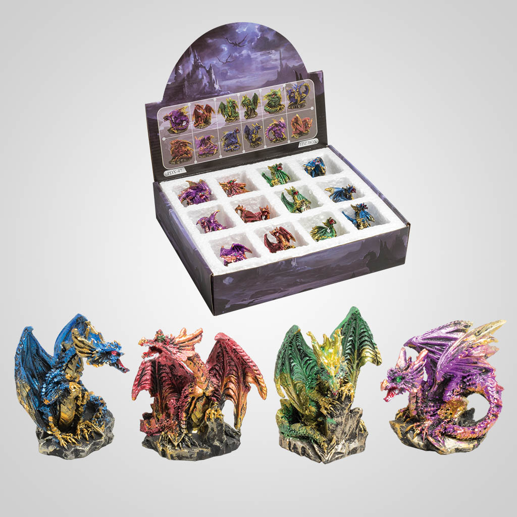 3-PDX47 - Dragon Figurines