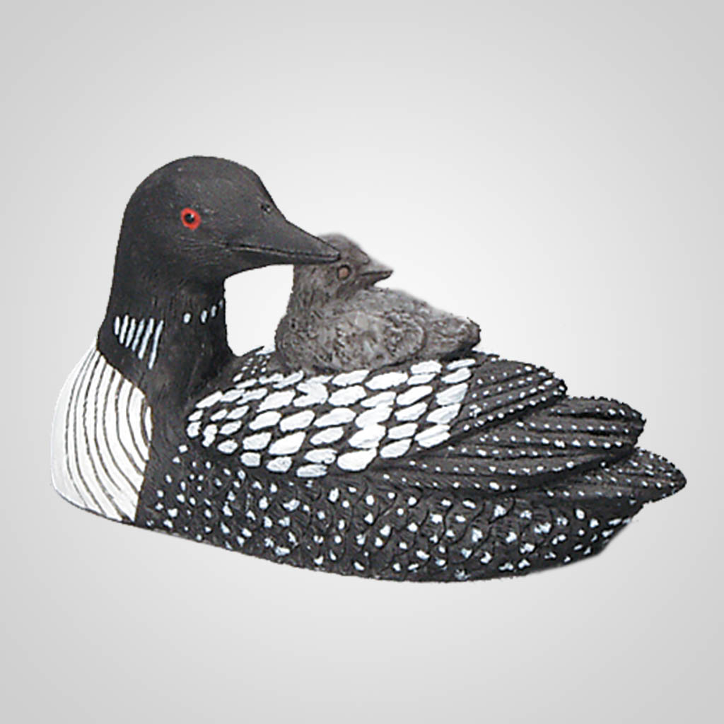 """62125 - 2-1/2"""" Loon With Chick"""