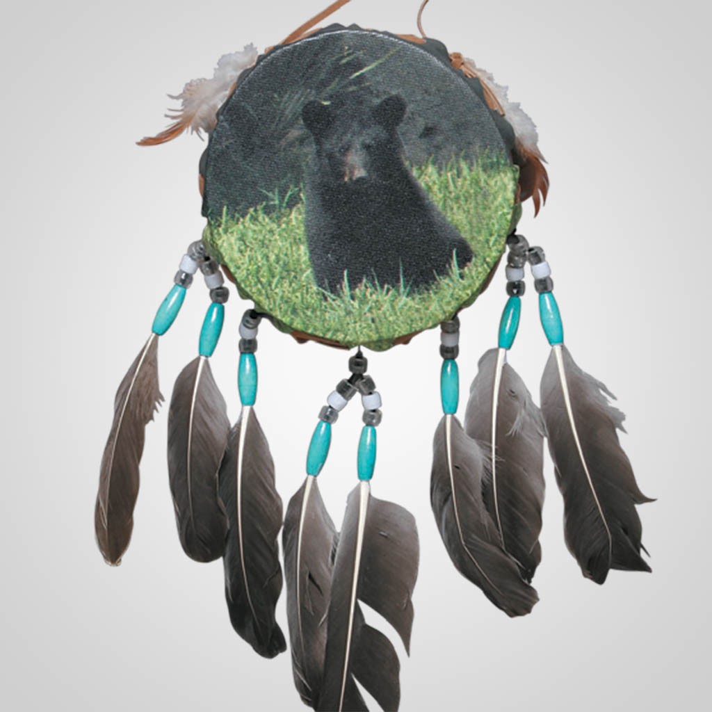 62500 - Drum Wall Hanging, Bear